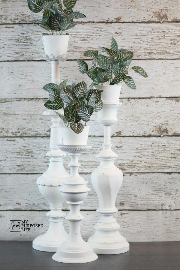 repurposed lamp plant stands MyRepurposedLife