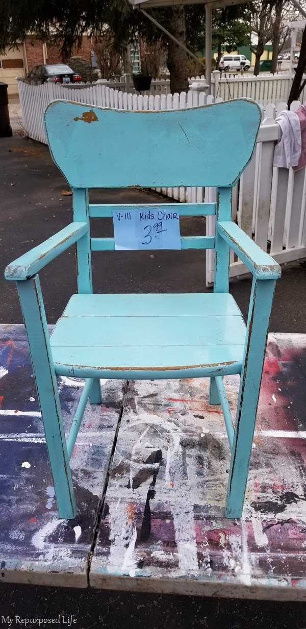 thrift store kid's chair
