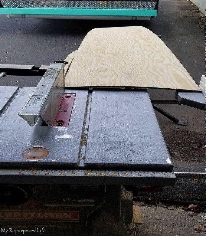 cut thin plywood on tablesaw