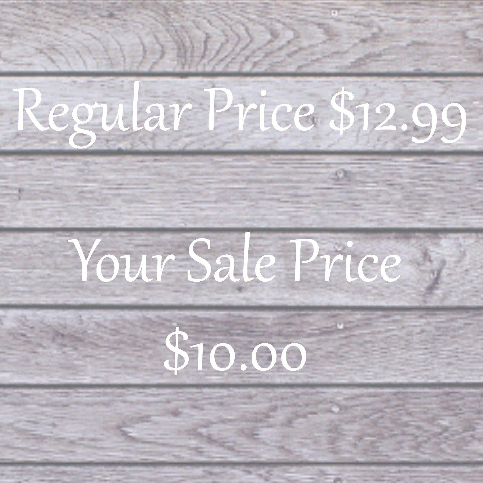 sale price ten dollars