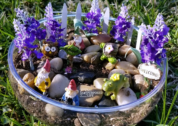 easy tabletop fairy garden MyRepurposedLife