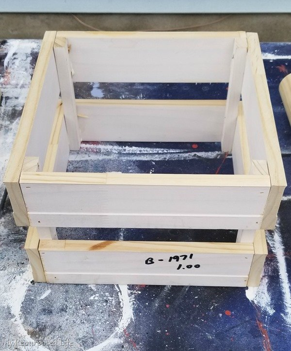 handmade crate for diy molkky game