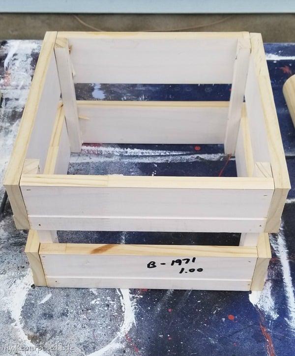 handmade crate for diy molkky game