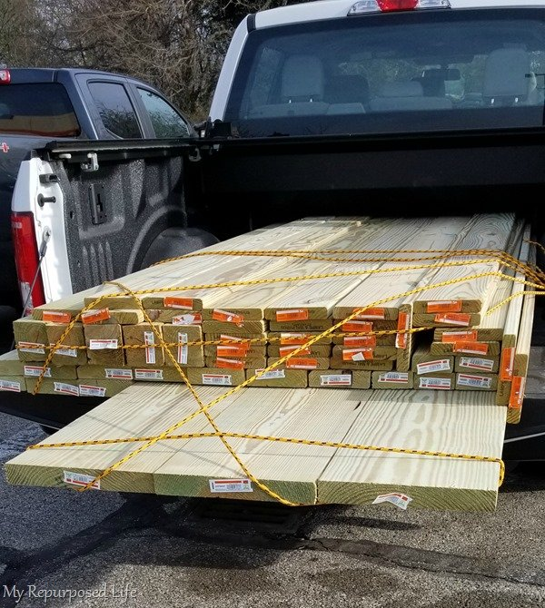 home depot lumber for small deck