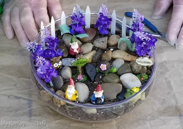 how to make a small tabletop fairy garden