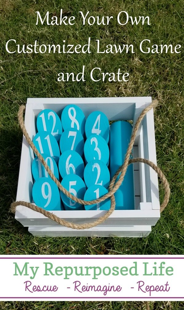 make your own customized lawn game and crate MyRepurposedlLife