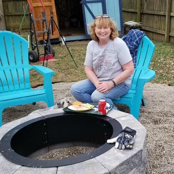 outdoor overhaul fire pit progress