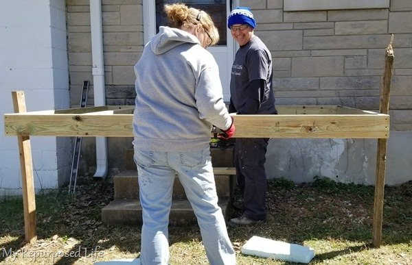 secure joists on small deck or porch