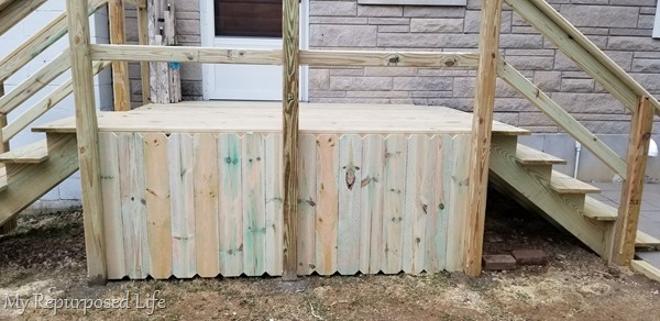 surround deck with fence boards