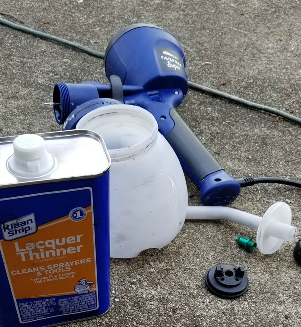 clean paint sprayer after using oil base paint