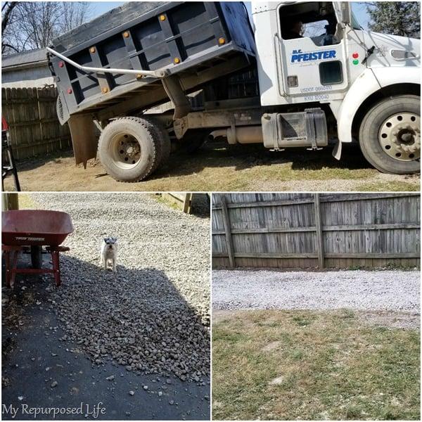 dump truck gravel for camper