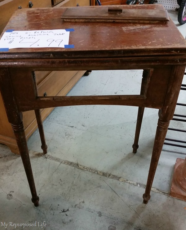 great deal on a vintage sewing cabinet