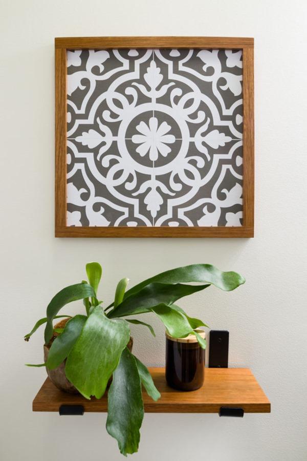 moroccan tile stencil design