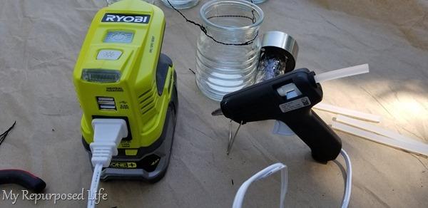 portable power for glue gun ryobi inverter