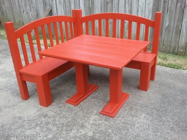 DIY Kids Corner Bench & Table