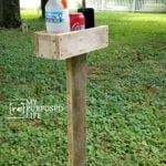 Outdoor DIY Beverage Holder for Corn Hole