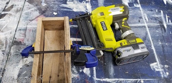 clamp and use nail gun for a temporary hold