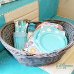 Painted Wicker Basket | Thrift Store Makeover