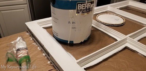 paint old window easy fireplace screen project