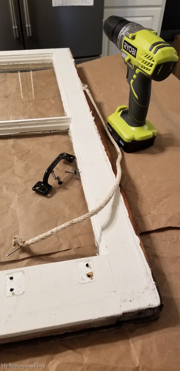 remove hardware and rope from window sash