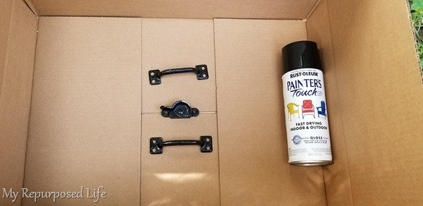 spray paint easy window project