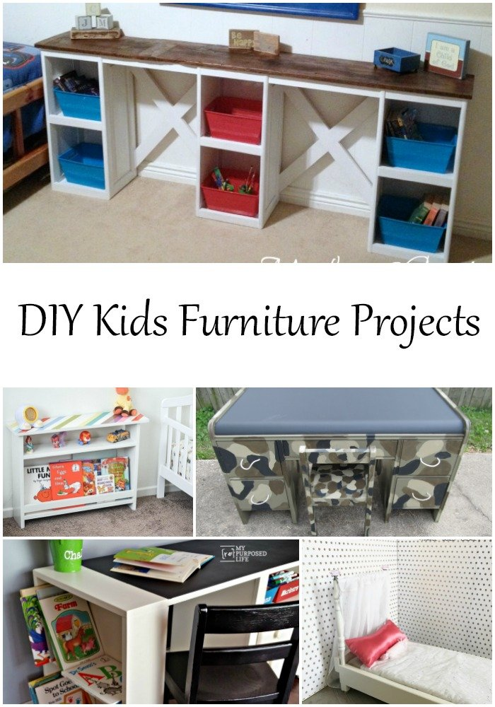 Do you have unwanted furniture items laying around? This collection of projects is perfect for those who do, or love great deals at thrift stores. You'll have fun making these projects and the little ones in your life will gain so much from helping and then playing! #MyRepurposeLife #repurposed #furniture #projects #kids #children #repurposedfurnitureprojects  via @repurposedlife