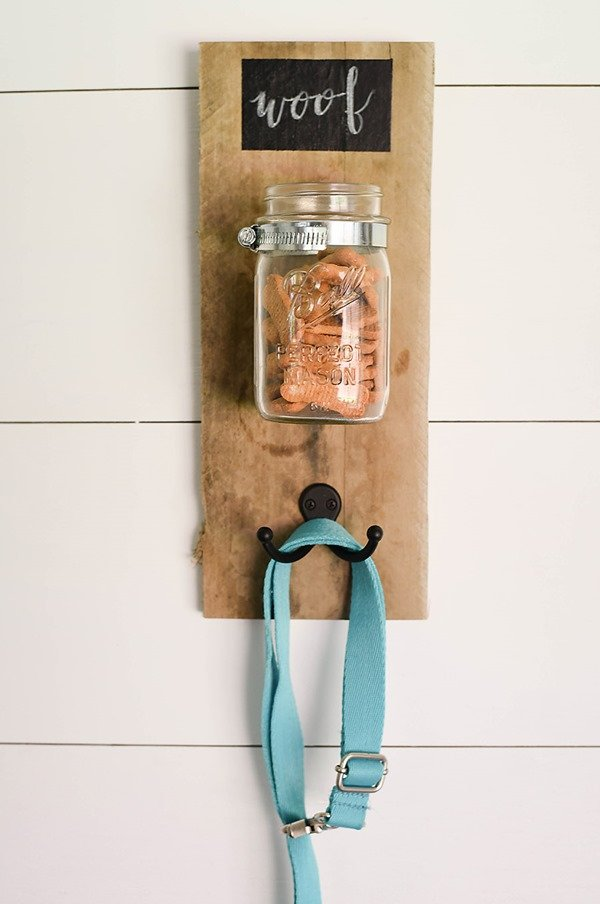 dog treat and leash holder