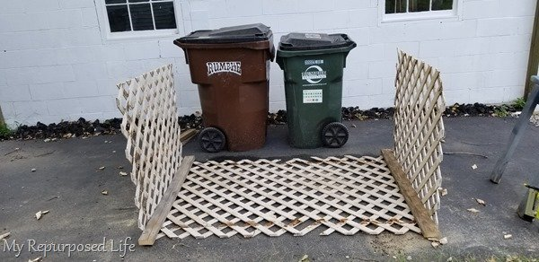 basic construction of lattice garbage can enclosure