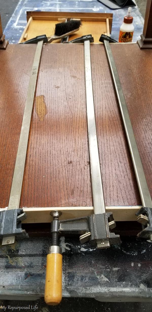 clamp loose veneer