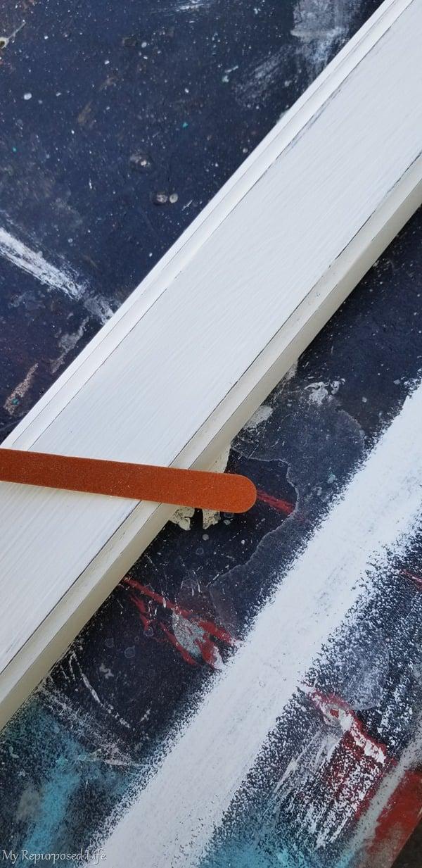 emery board for easy distressing