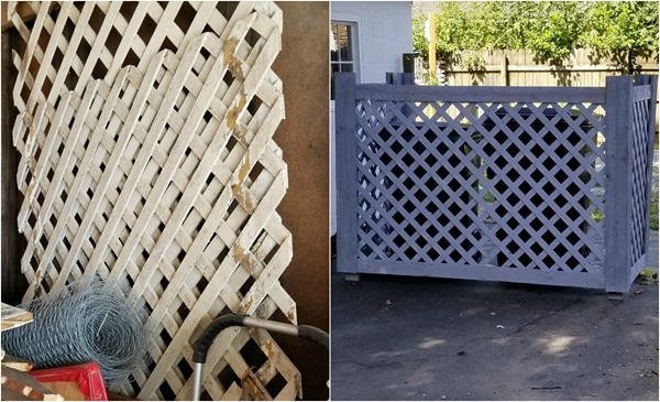 lattice trash can corral