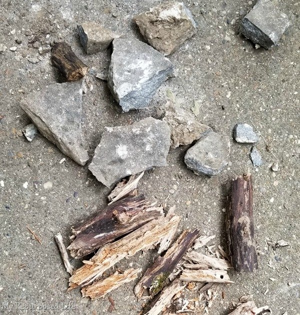 rocks and sticks for natural elements