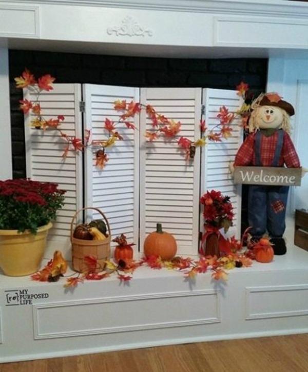 Fall Fireplace Screen