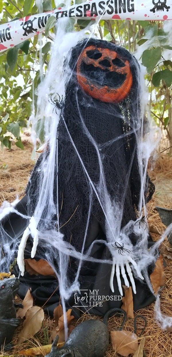 creepy scary halloween pumpkin zombie MyRepurposedLife