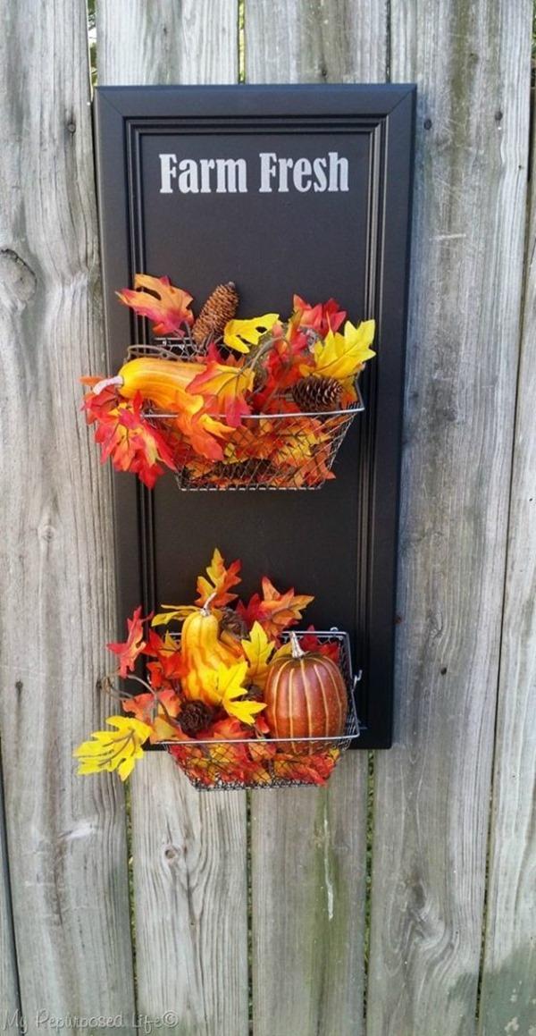 farm fresh produce bin fall decor