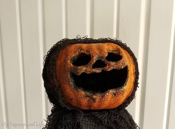 foam pumpkin creepy jack-o-lantern face