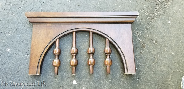 top of spindle dresser mirror