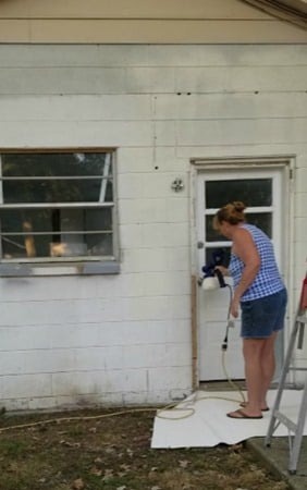 using a paint sprayer to paint out building the easy way
