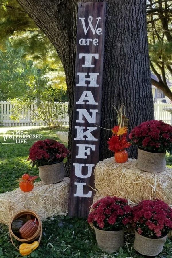 we are thankful rustic fall porch decor