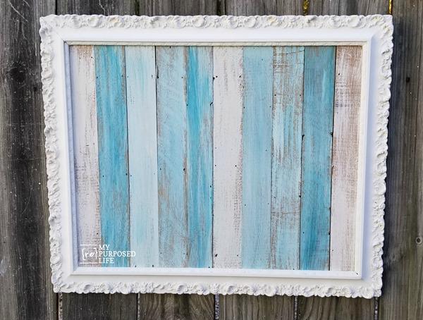 beachy frame artwork MyRepurposedLife