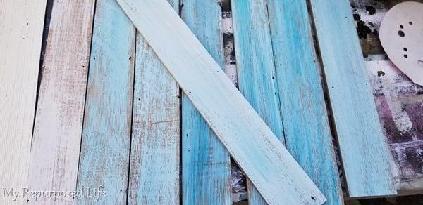 beachy frame shades of blue paint