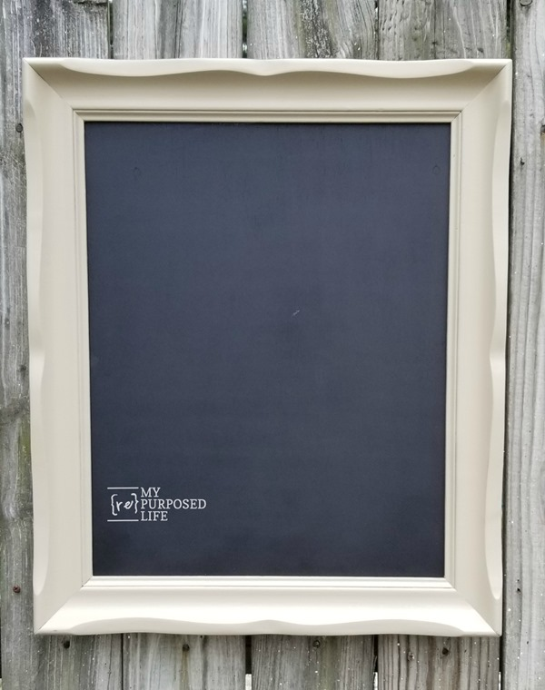 chalkboard display for craft show MyRepurposedLife