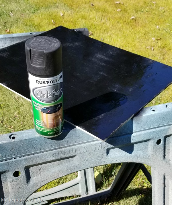 diy chalkboard spray paint plywood