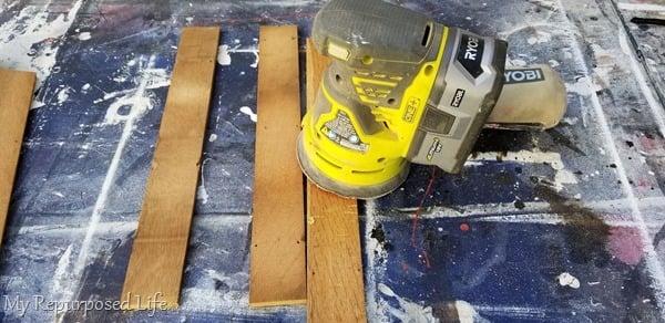 lightly sand floor planks