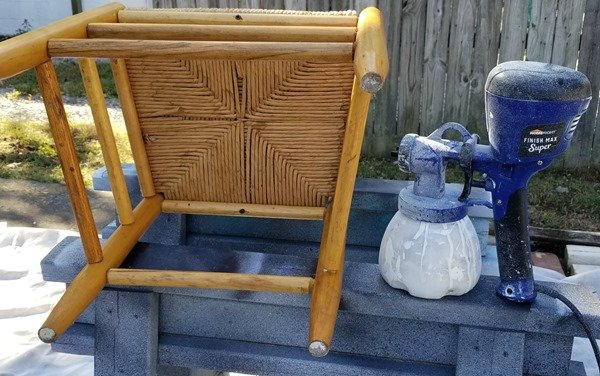 super finish max paints ladder back rush seat