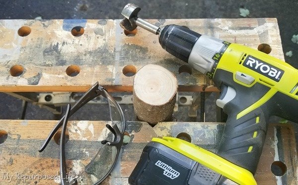 use forstner bit to drill candle holder