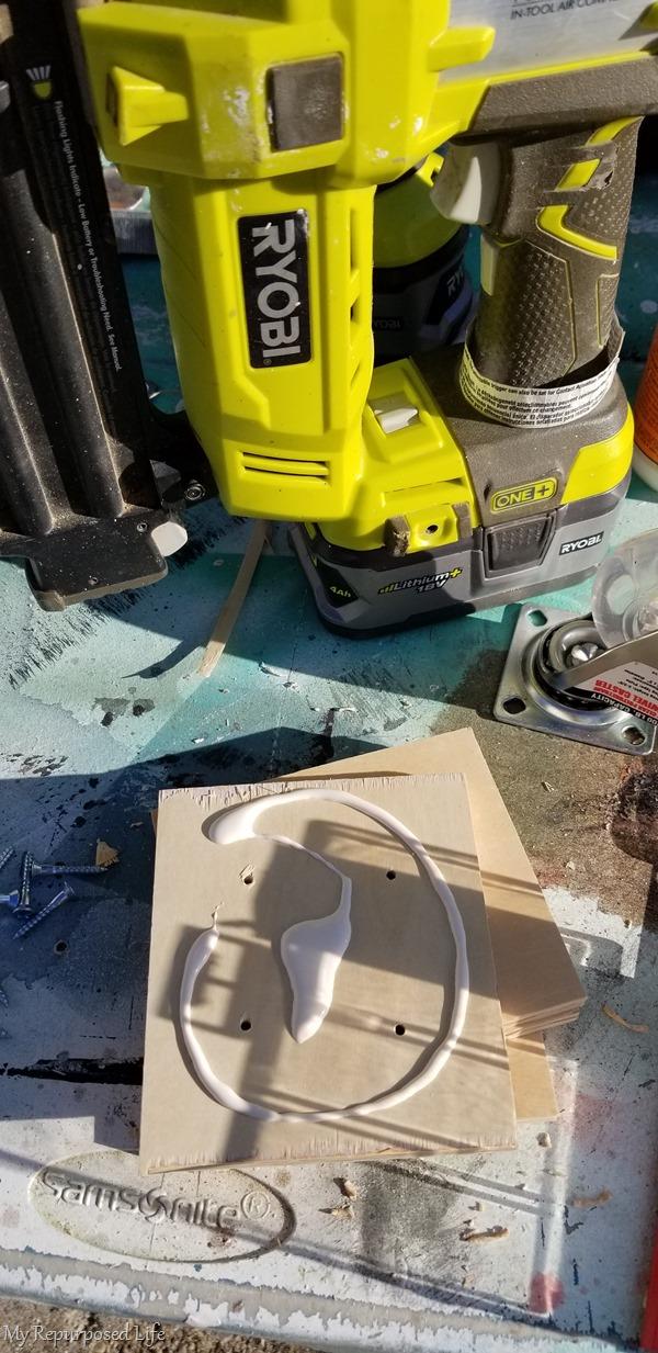 add wood glue for wheel support