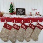 Christmas Stocking Shelf