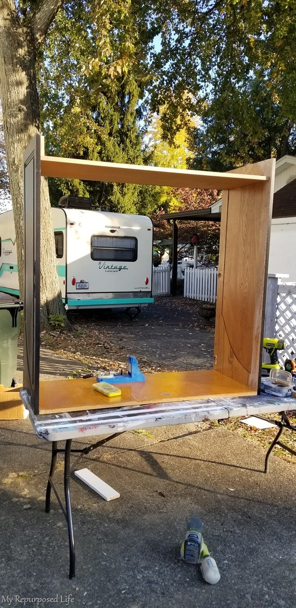 constructing dress up cabinet