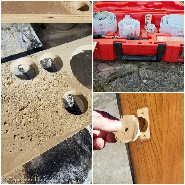 how to plug holes in armoire
